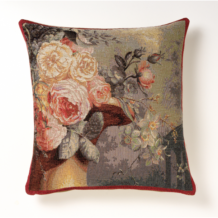【Art de Lys/アールドゥリス】ゴブランクッション キオスクと花