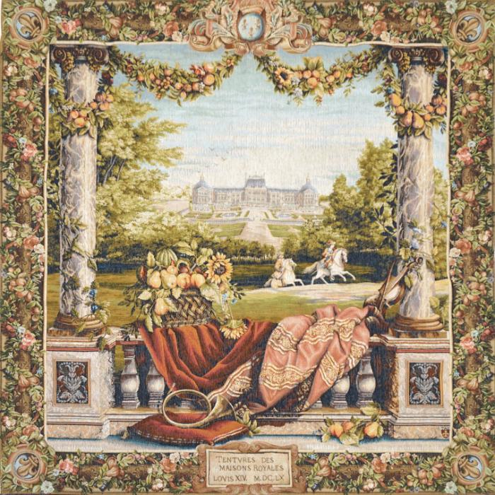 【Art de Lys/アールドゥリス】ゴブランタペストリー 城のテラス