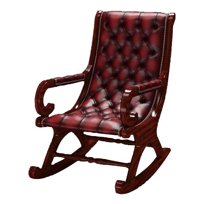 ☆基本配送料無料☆【Old Times/オールドタイムス】ロッキングチェア Thorpechair Antique red(チェスターフィールド)