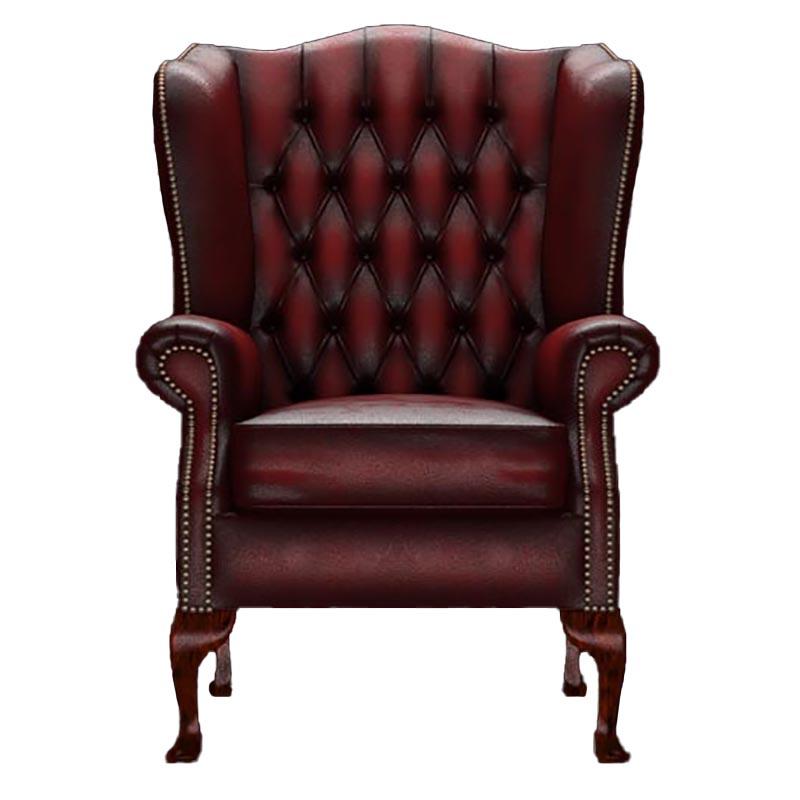☆基本配送料無料☆【Old Times/オールドタイムス】1Pソファ Gladstone Antique Red(チェスターフィールド)
