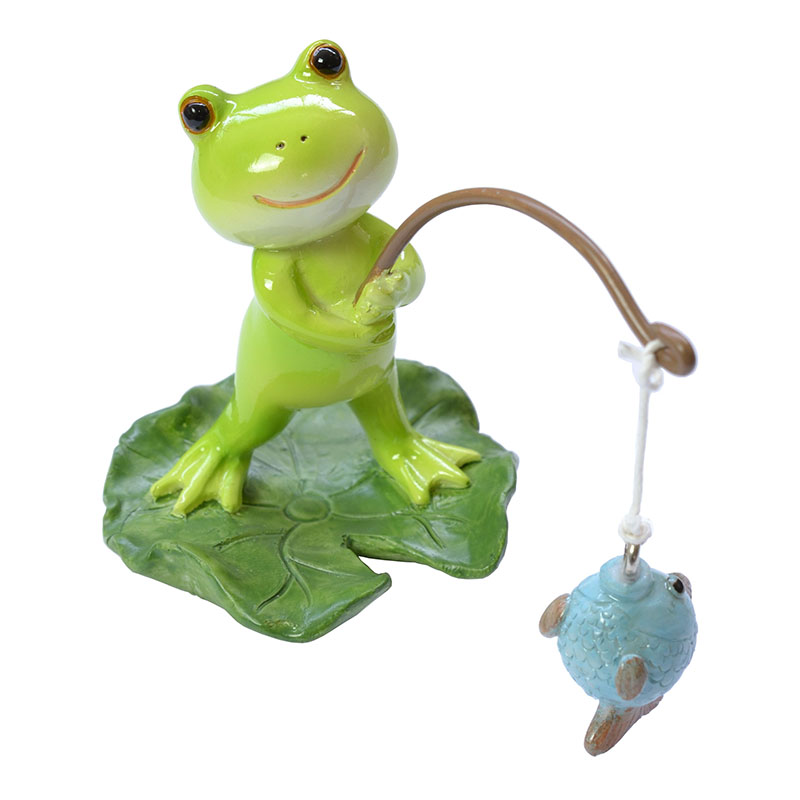 カエル『釣れました!』