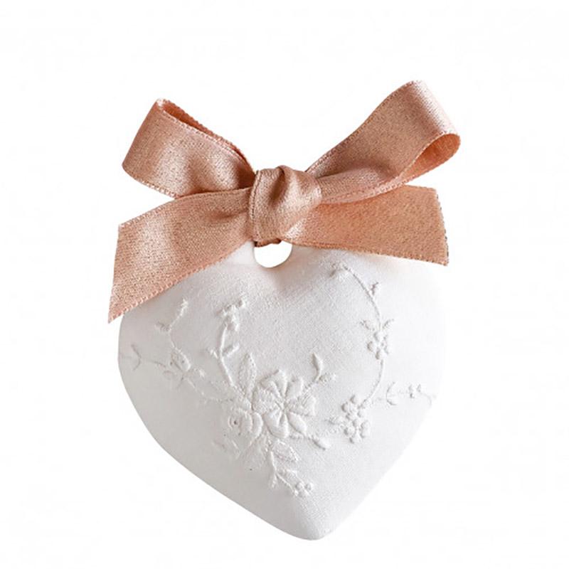 【Mathilde M./マチルドエム】センティッドデコ 刺繍ハート(小) 香り:ローズエリクサー