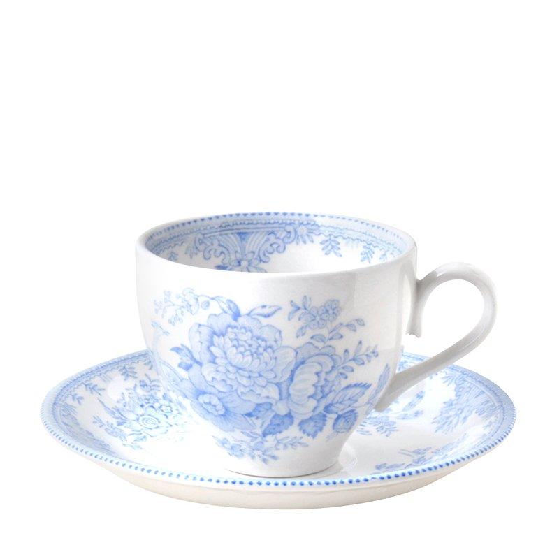 【Burleigh/バーレイ】ブルーアジアンティックフェザンツ カップ&ソーサー 210ml