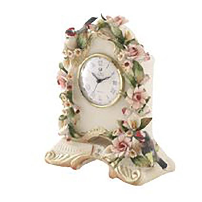 ☆大決算セール☆イタリア製 陶花 置時計 通常価格¥39,000の品