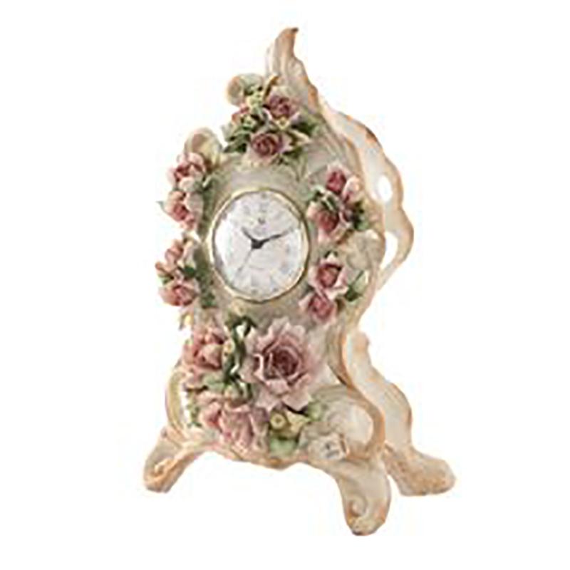 ☆大決算セール☆イタリア製 陶花 置時計 通常価格¥49,000の品