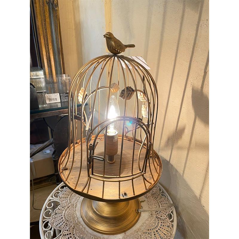 ☆那須 オブジェ店  閉店セール☆  鳥かご型卓上ランプ 通常価格¥15,400の品